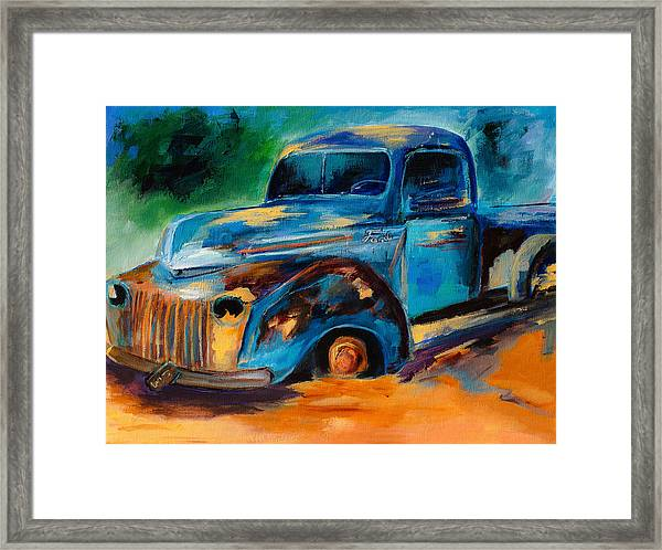 Framed Print featuring the painting Old Ford In The Back Of The Field by Elise Palmigiani
