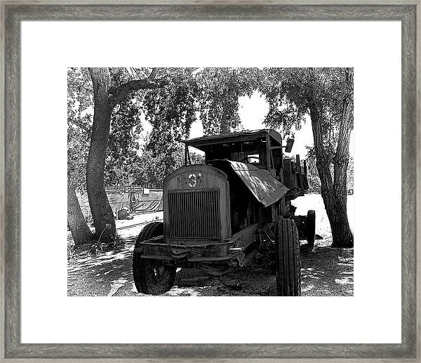 Framed Print featuring the photograph Old Ford Work Truck by William Havle