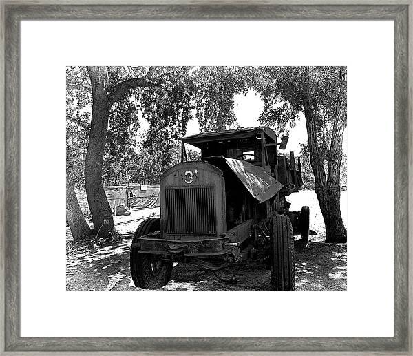 Old Ford Work Truck Framed Print