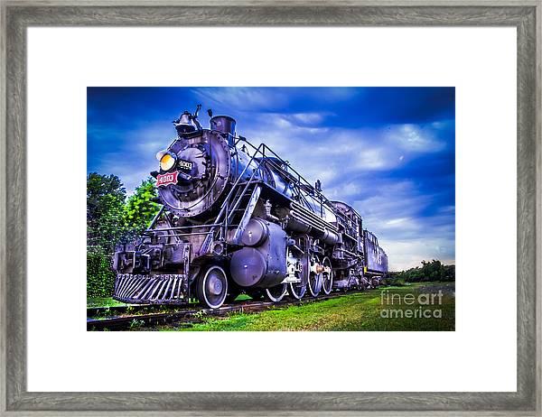 Old Fort Train Framed Print