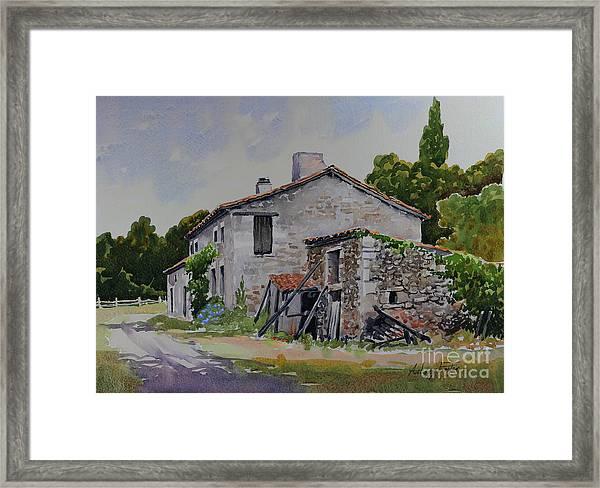Old French Farmhouse Framed Print