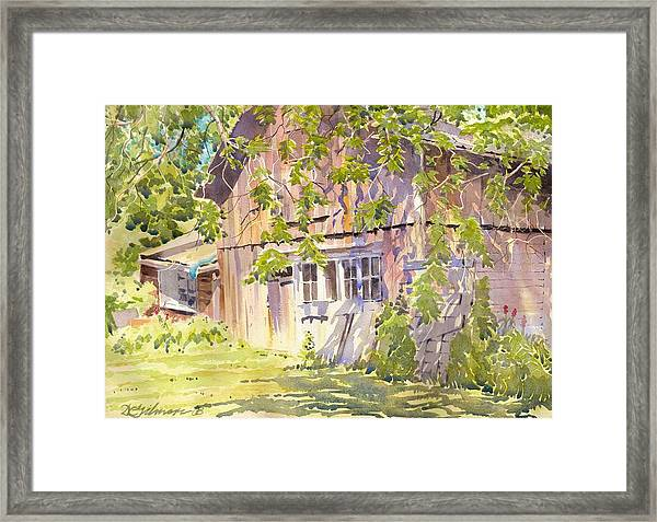 Old Garage Framed Print