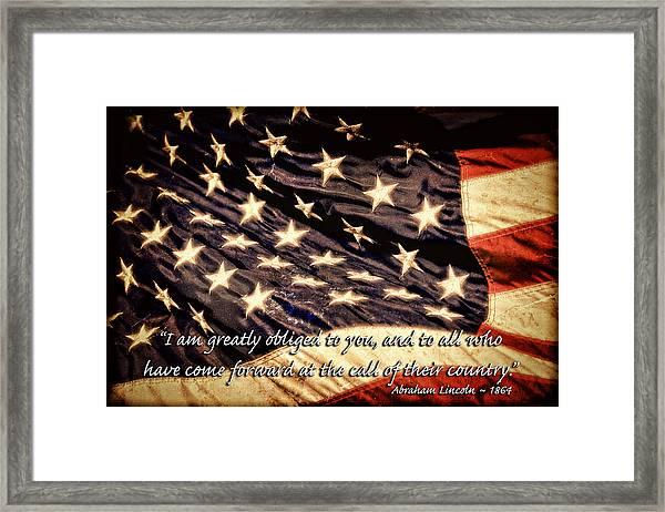 Old Glory Military Tribute Framed Print