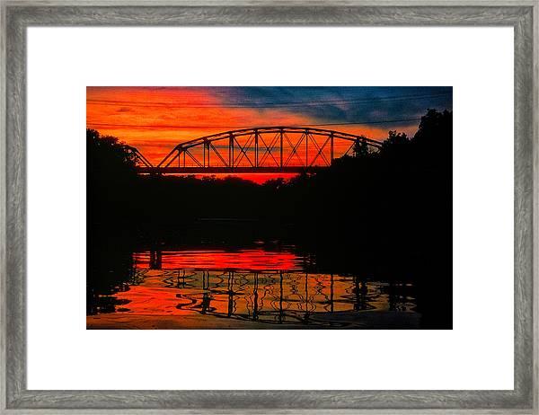 Old Gravois Bridge Silhoutte Framed Print
