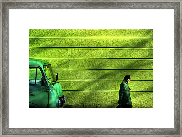 Old Green Framed Print