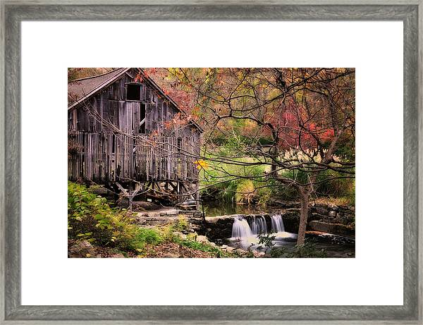 Old Grist Mill - Connecticut Framed Print