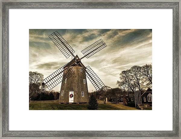 Old Hook Windmill Framed Print