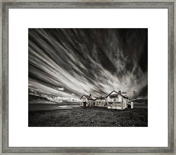 Old Hospital (mono) Framed Print