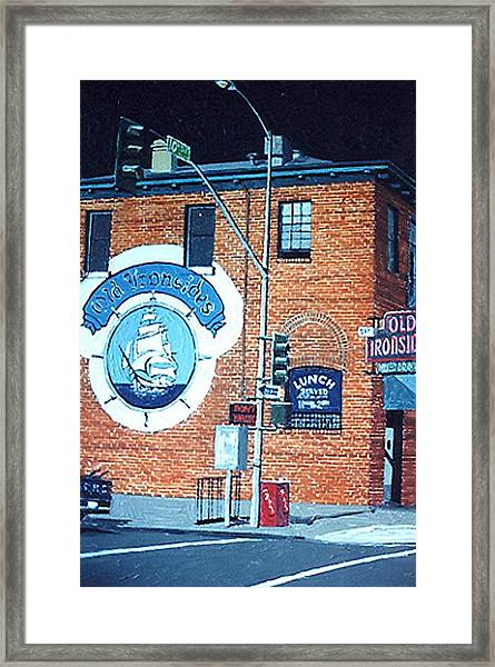 Old Ironsides Framed Print by Paul Guyer