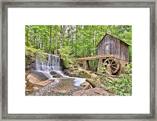 Old Lefler Grist Mill Framed Print