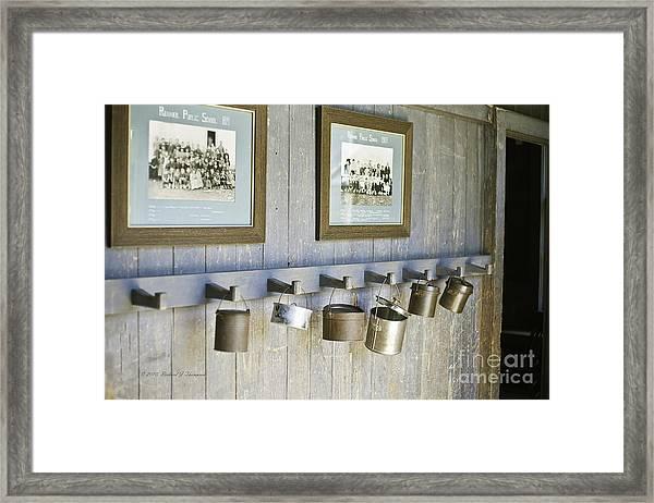 Old Lunch Pails Framed Print
