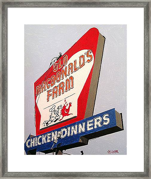 Old Macdonalds Farm Framed Print by Paul Guyer