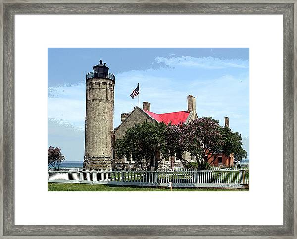 Old Mackinac Point Light Framed Print