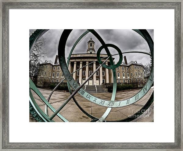Old Main Through The Armillary Sphere Framed Print