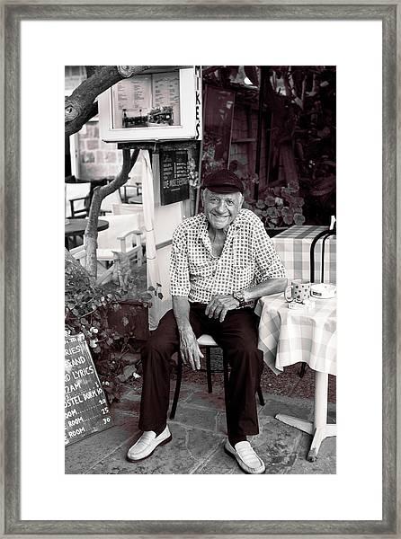 Old Man Of Old Town Framed Print
