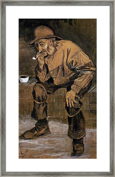 Old Man With A Pipe, 1883 Framed Print