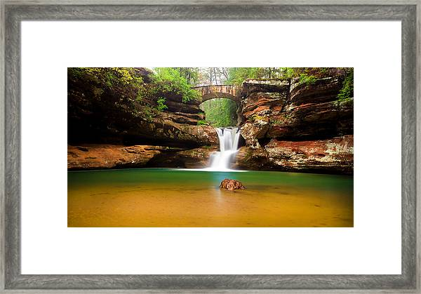 Old Man's Cave Upper Falls Framed Print