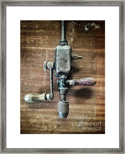 Old Manual Drill Framed Print
