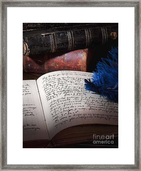 Old Manuscript Framed Print