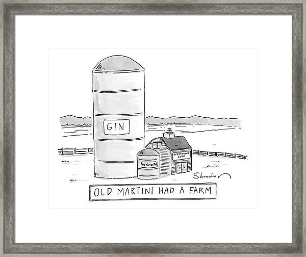 Old Martini Had A Farm Framed Print