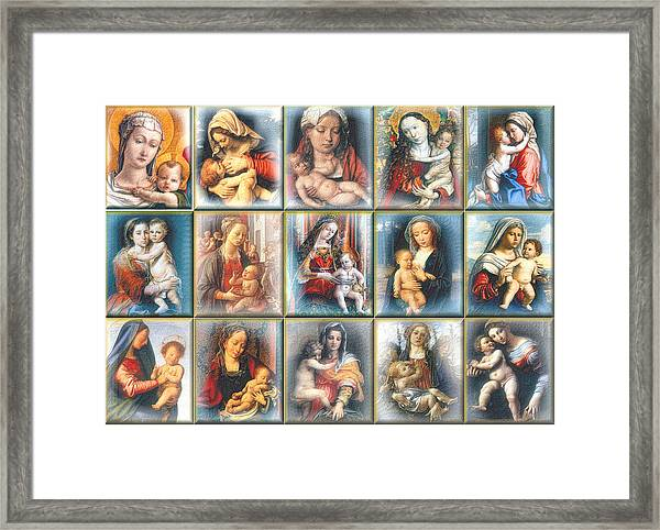 Old Masters Mother And Child 2009 Framed Print