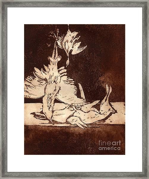 Old Masters Still Life - With Great Bittern Duck Rabbit - Nature Morte - Natura Morta - Still Life Framed Print