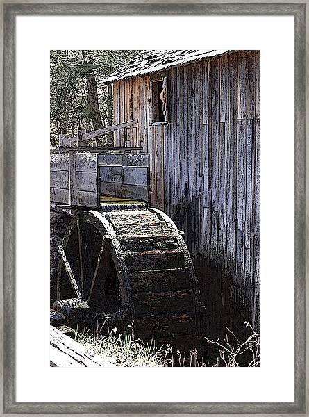Old Mill Art01 Framed Print