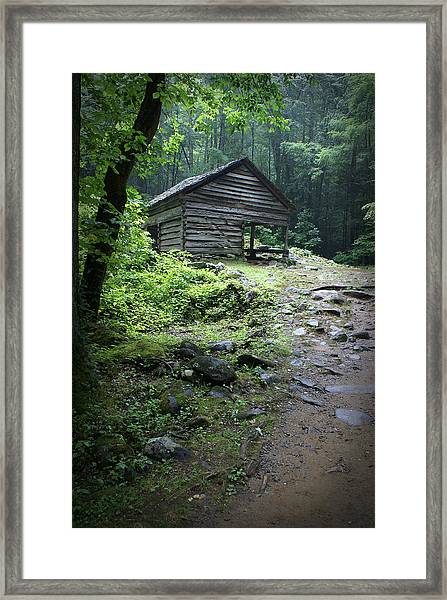 Old Mountain Cabin Framed Print