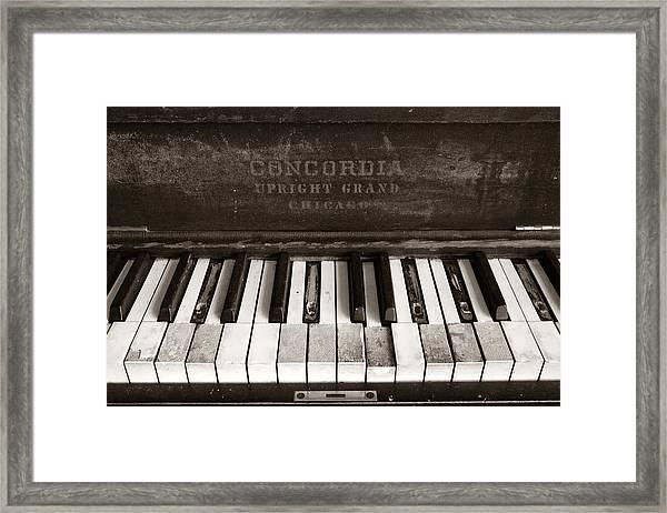 Old Piano Keys Framed Print