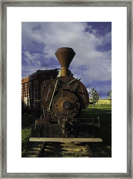 Old Prairie Train Framed Print