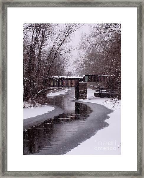 The Nifti Railroad Bridge Framed Print
