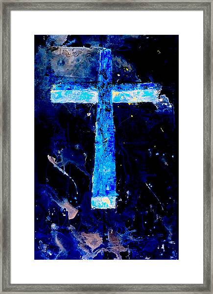 Old Rugged Cross II Framed Print