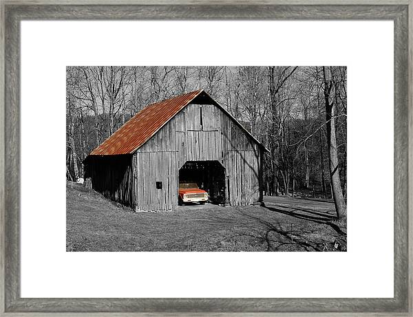 Old Rusty Barn  Framed Print