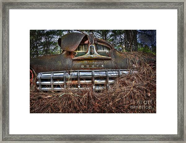 Old Rusty Dodge Framed Print
