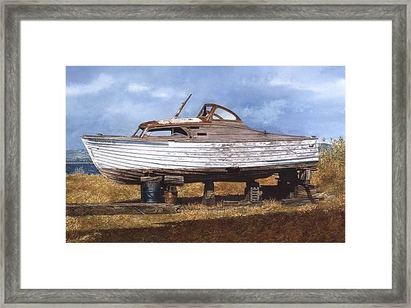 Old Salt Framed Print by Tom Wooldridge