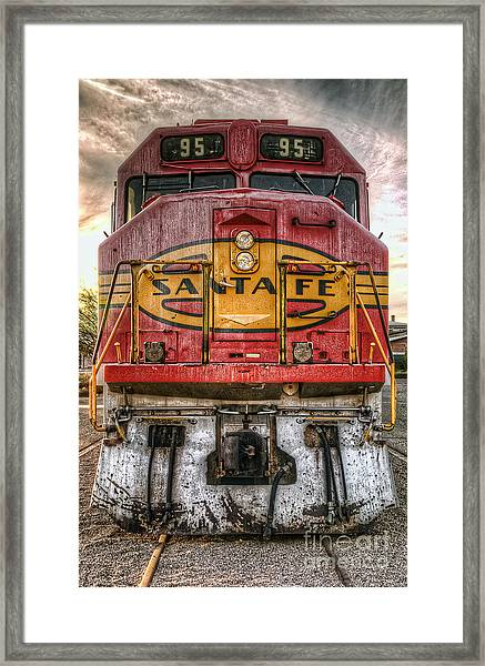 Old Santa Fe Engine Framed Print