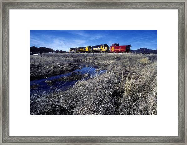 Old Sante Fe Waits In Williams Arizona Framed Print