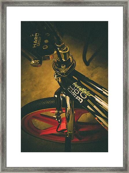 Old School Cool Bmx - 1 Framed Print