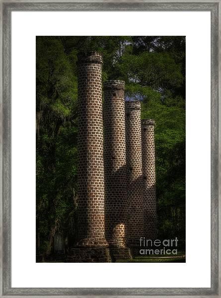 Old Sheldon Church Columns Framed Print