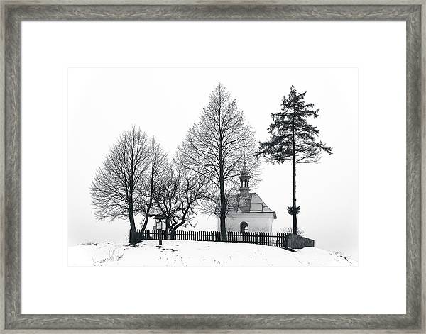Old Shrine In Nowiny Horynieckie Framed Print