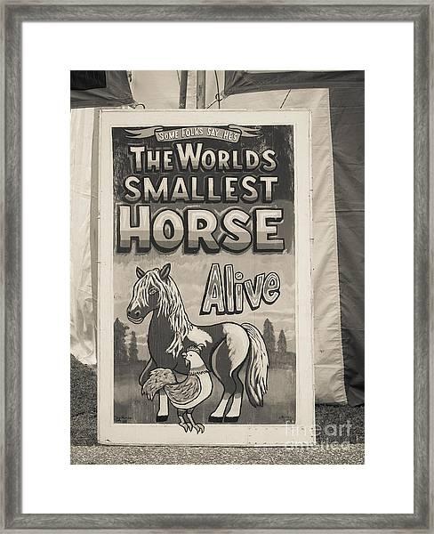Old Sideshow Poster Framed Print