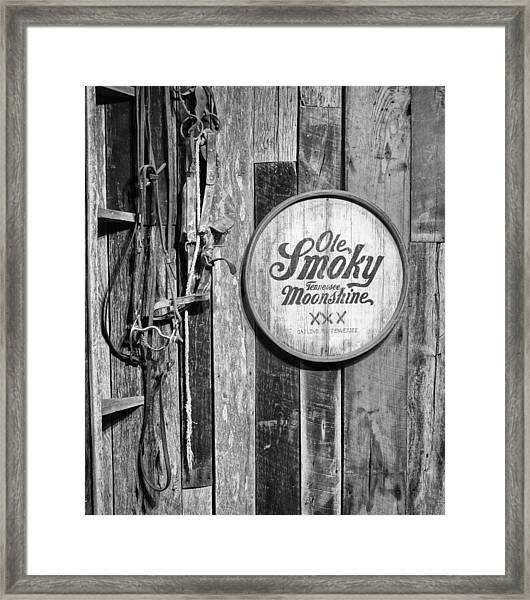 Ole Smoky Moonshine Framed Print