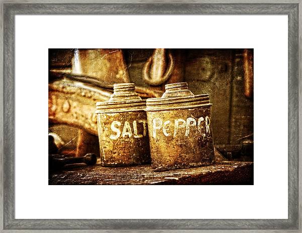 Old Spices Framed Print