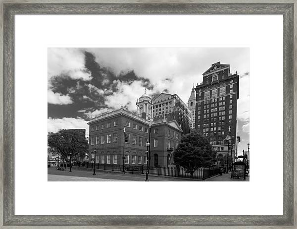 Old State House 15568b Framed Print