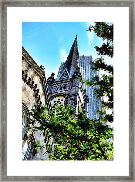 Old Stone Church - Cleveland Ohio - 1 Framed Print