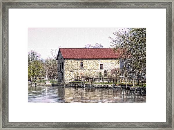 Old Stone House On The Canal Framed Print