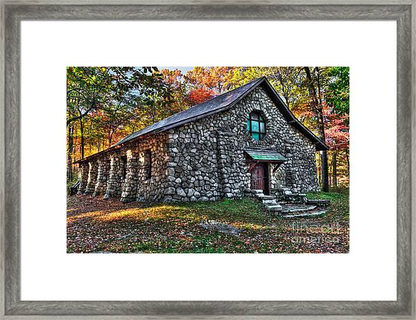 Old Stone Lodge Framed Print