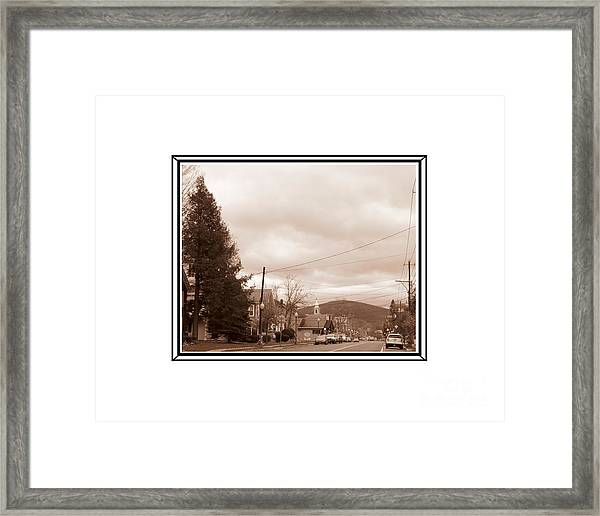 Old Time Main Street Framed Print