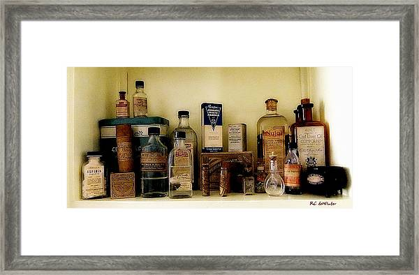 Old-time Remedies Framed Print