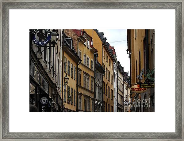 Old Town In Stockholm Sweden Framed Print by Micah May